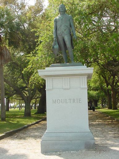 Statue of General William Moultrie from Charleston Battery Charleston SC